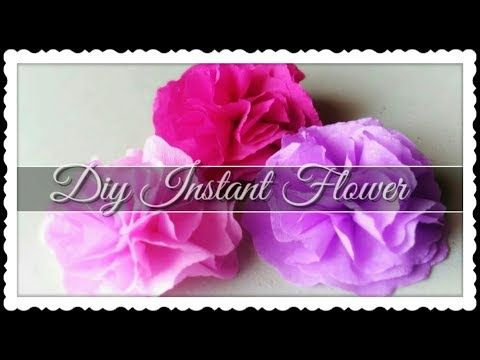 Diy Very Quick And Easy Paper Flower Using Crepe Paper Youtube