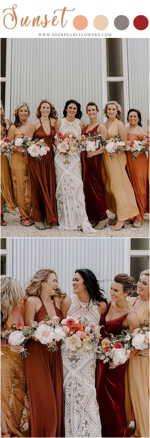 Sunset Orange Wedding Color Ideas Orange Bridesmaid Dresses Weddings Weddingi Orange Bridesmaid Dresses Fall Bridesmaid Dresses Burgundy Bridesmaid Dresses [ 1755 x 604 Pixel ]