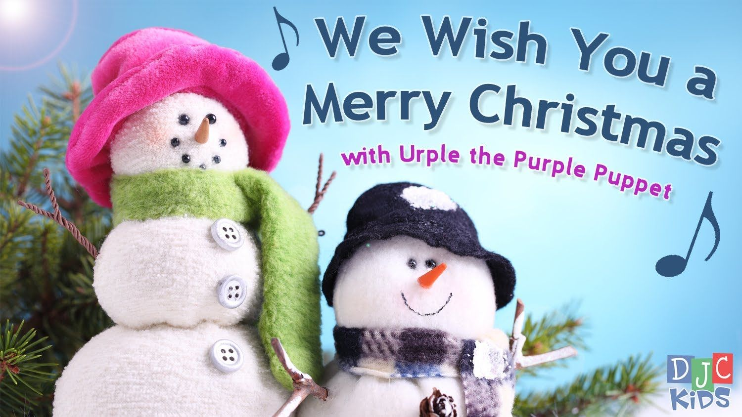 We Wish You A Merry Christmas With Urple The Purple Puppet Animated Christmas Wallpaper Christmas Stickers Animated Christmas