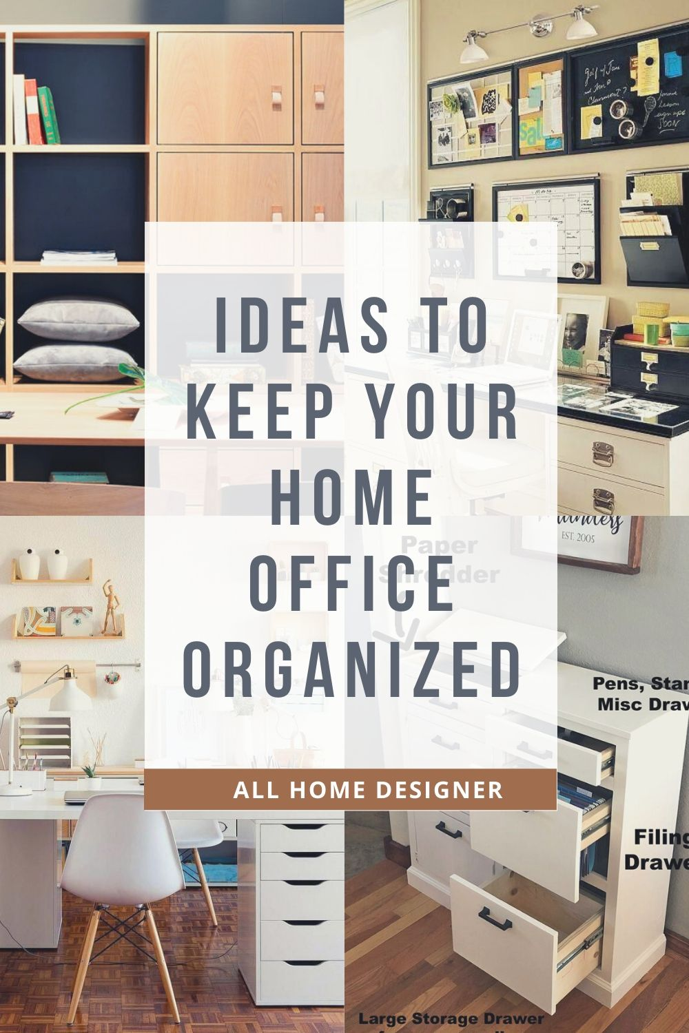 Home Office Organizing Ideas In 2020 Home Office Design Home