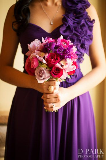 Pink Purple Bridesmaid Bouquet Ideas Fall Wedding 16