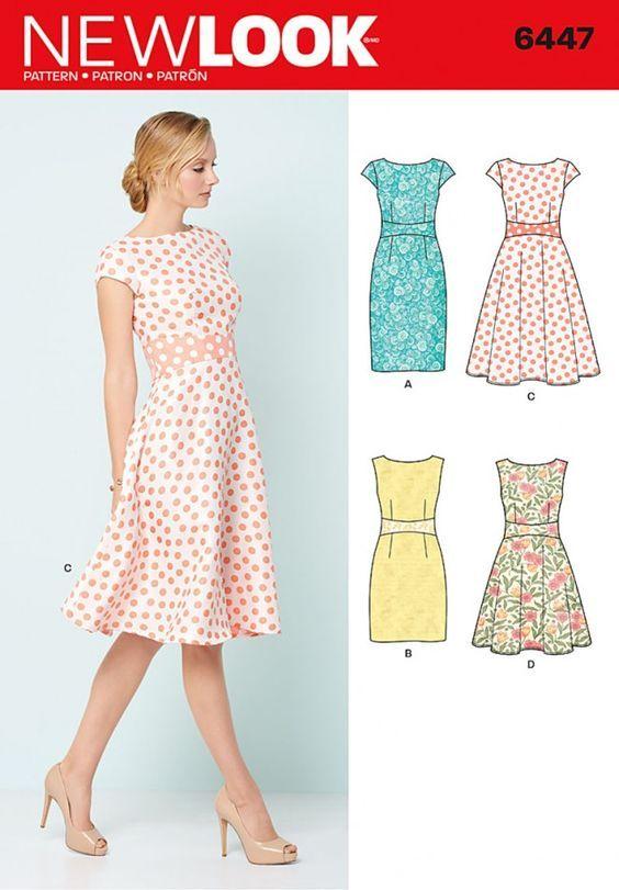 New Look - 6447 | Sewing | Pinterest | Nähen, Schnittmuster kleid ...