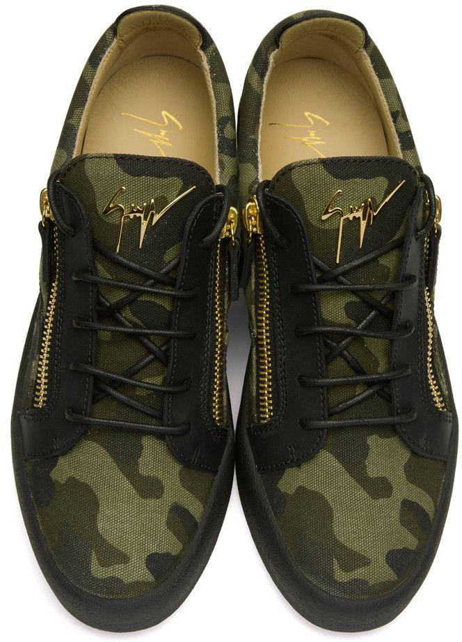 a9bb954c93e3c Giuseppe Zanotti - Green Camo Foxy London Sneakers | On point ...