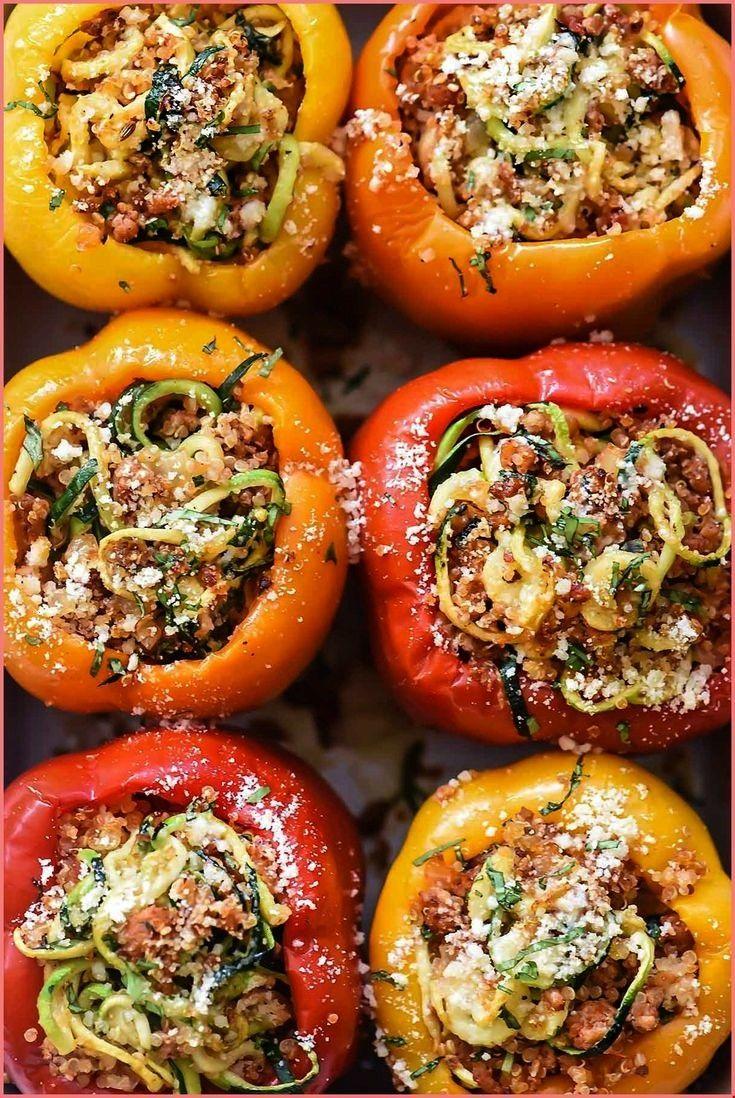 Zucchini Quinoa und Putenwurst Gefüllte Paprikaschoten   foodiecrushcom ...  - stuffed peppers wi