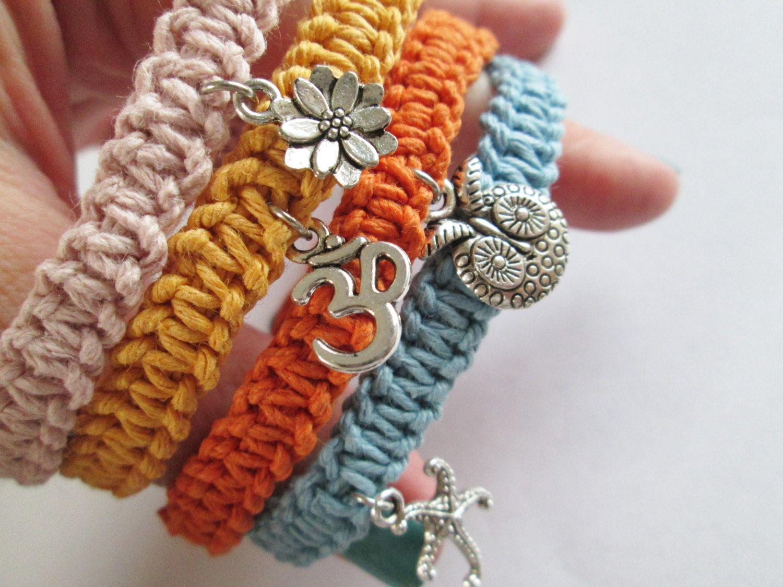 Handmade Hemp Charm Bracelets Handmade Hemp Charm Anklets Custom Hemp  Bracelets Or Anklets