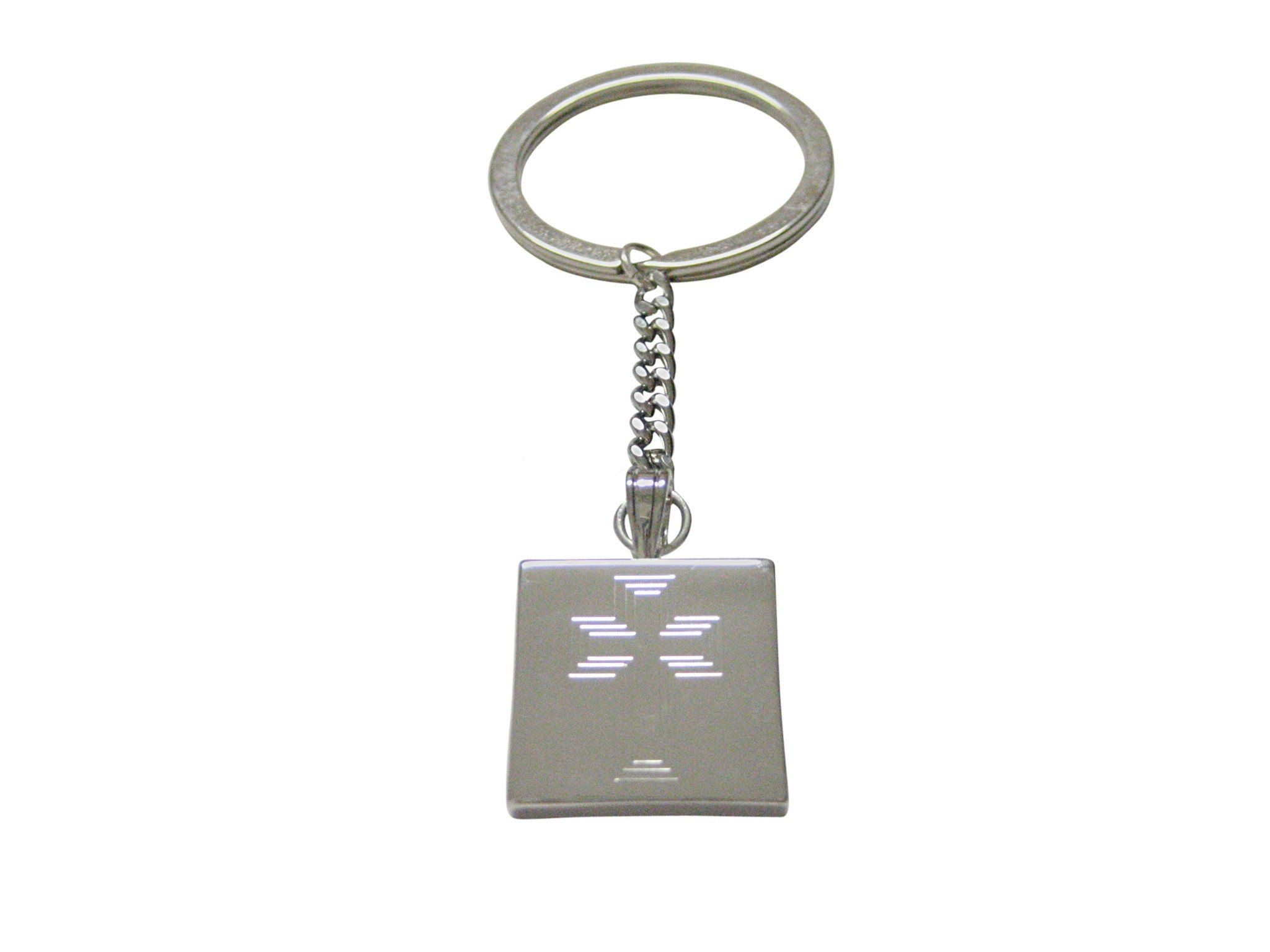 Silver Toned Etched Ankh Cross Cufflinks