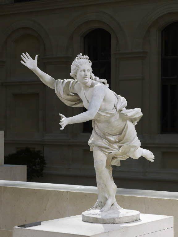 Guillaume Ier COUSTOU Lyon, 1677 - Paris, 1746 Daphné poursuivie par Apollon Marbre H. : 1,32 m ...