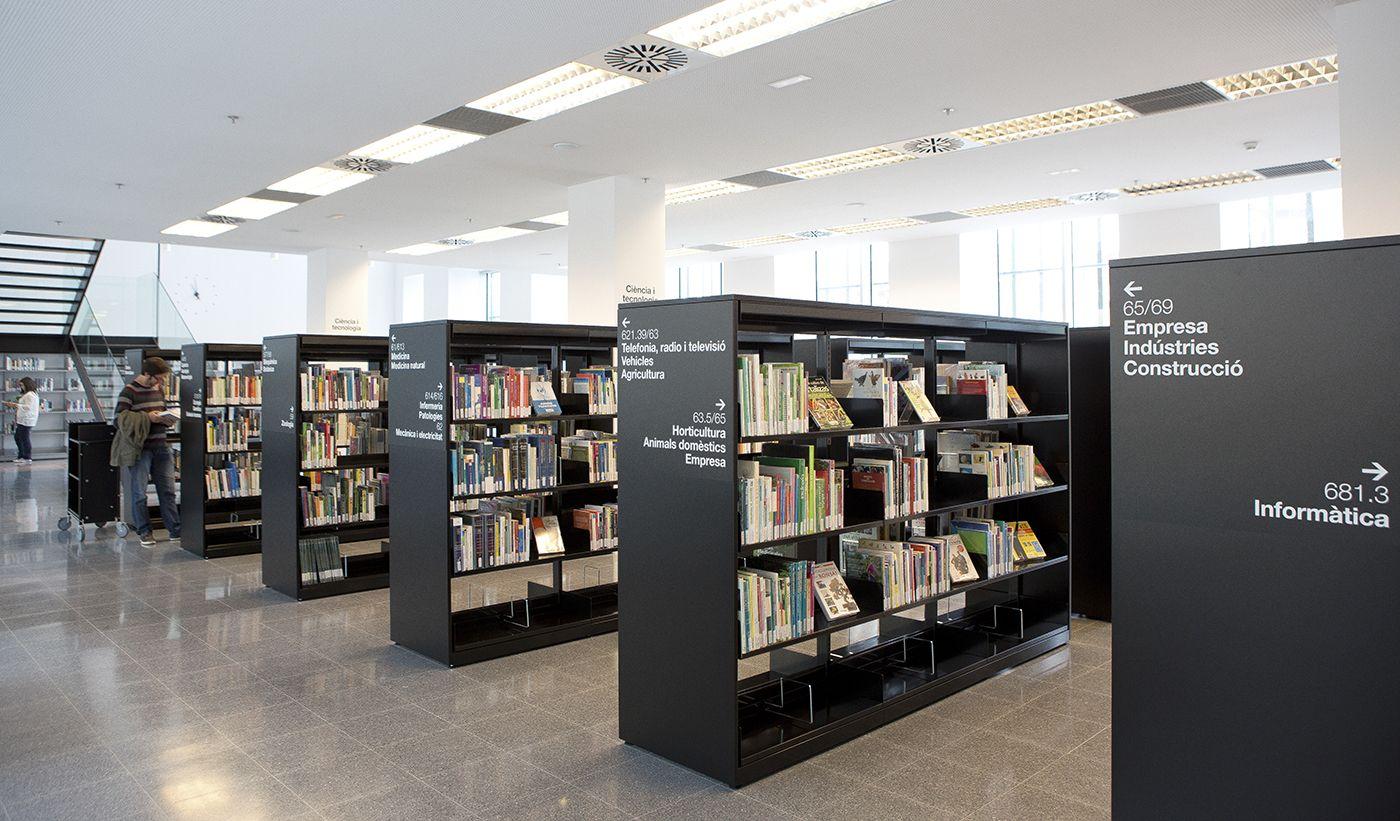 Pfp Disseny Gr Fic Prestatges Biblioteca Central De  # Muebles Serrano Castelldefels
