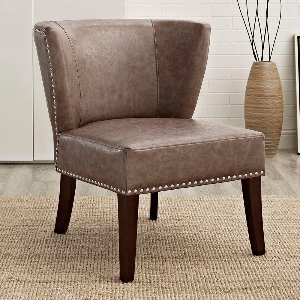 Simpli Home Jamestown Accent Chair, Beig/Green (Beig/Khaki)