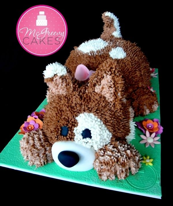 Puppy cake So cute For a puppy dog themed birthday party Dog
