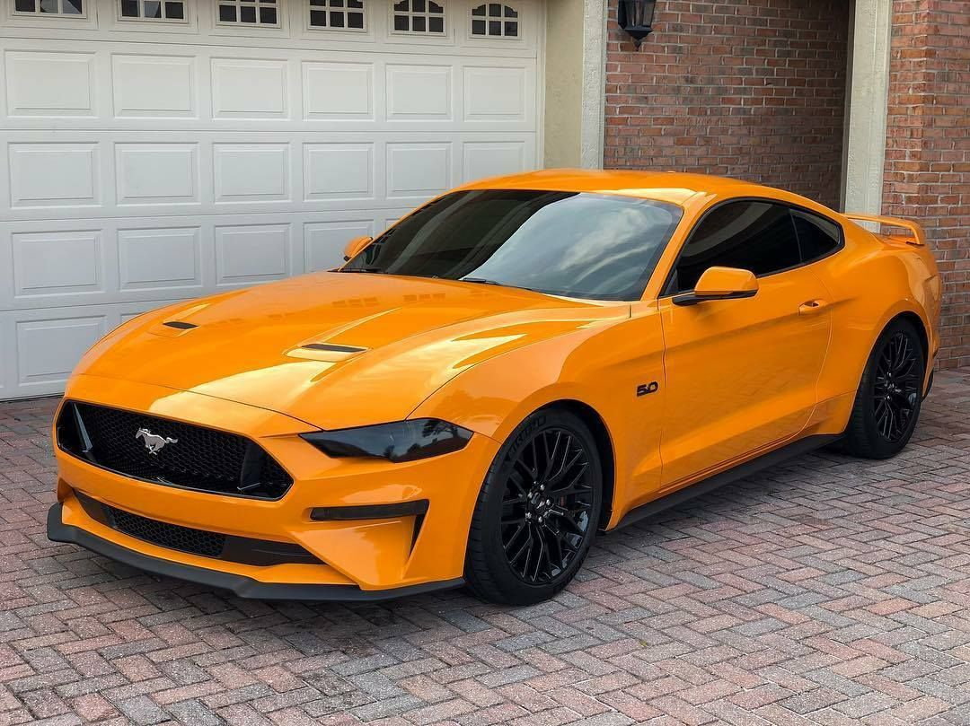Ford Mustang Automotive Orange Repinned By Averson