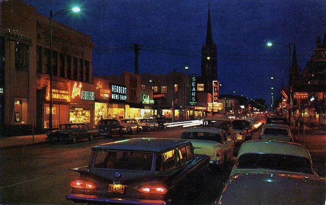Franklin Street Michigan City Indiana 1950 39 S