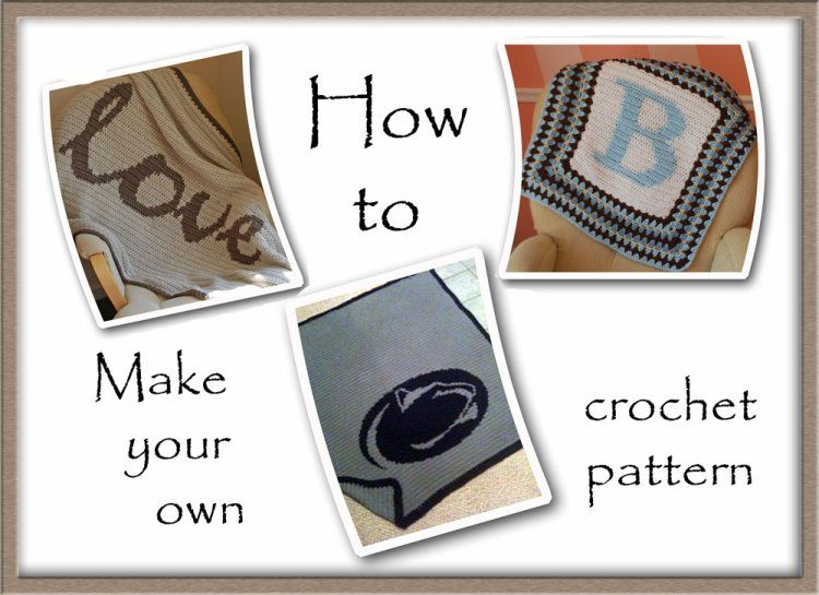 Crochet Graph Pattern-making Tutorial   LETRAS TEJIDAS   Pinterest ...