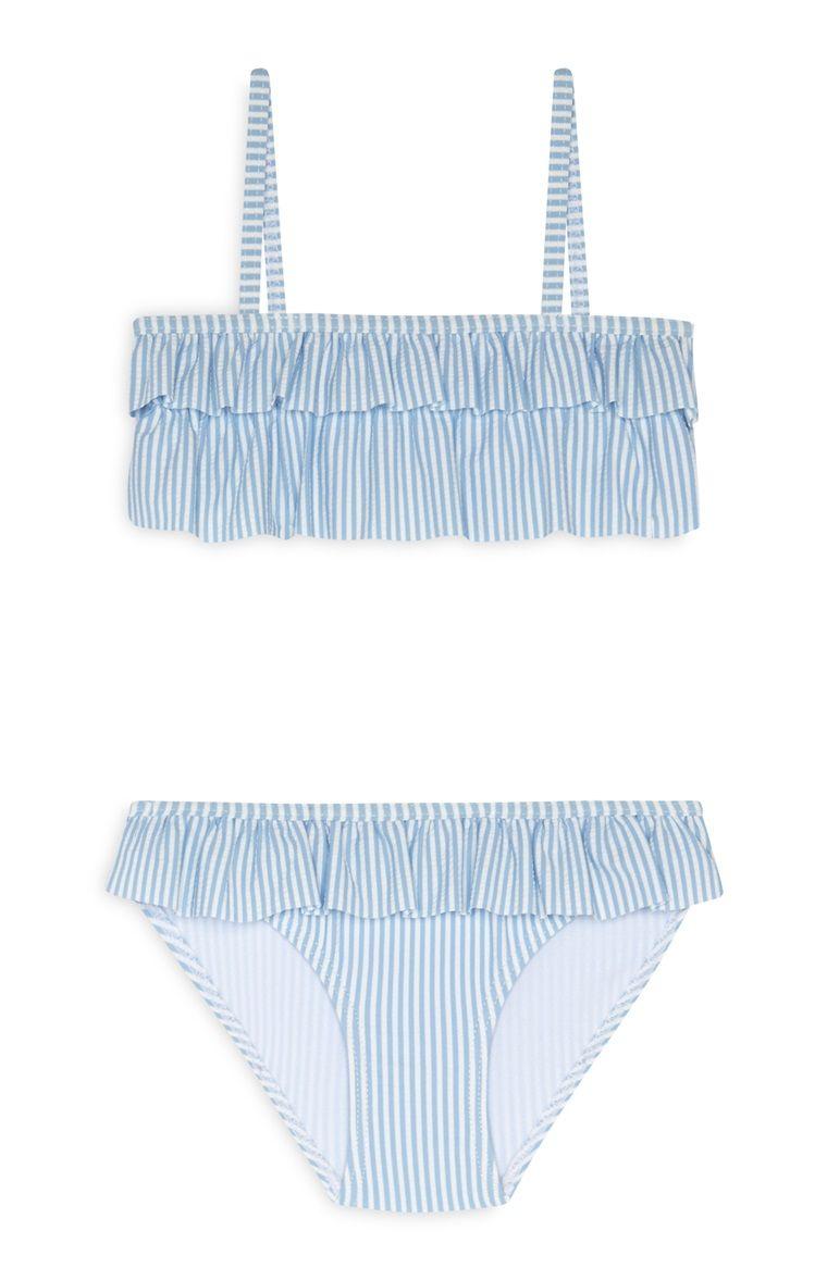 gran descuento 7089f 28771 Bikini azul a rayas de niña pequeña | mallas en 2019 ...