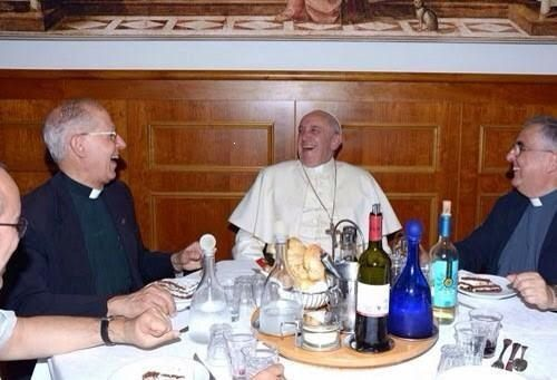 Image result for pope francis and friends laughing