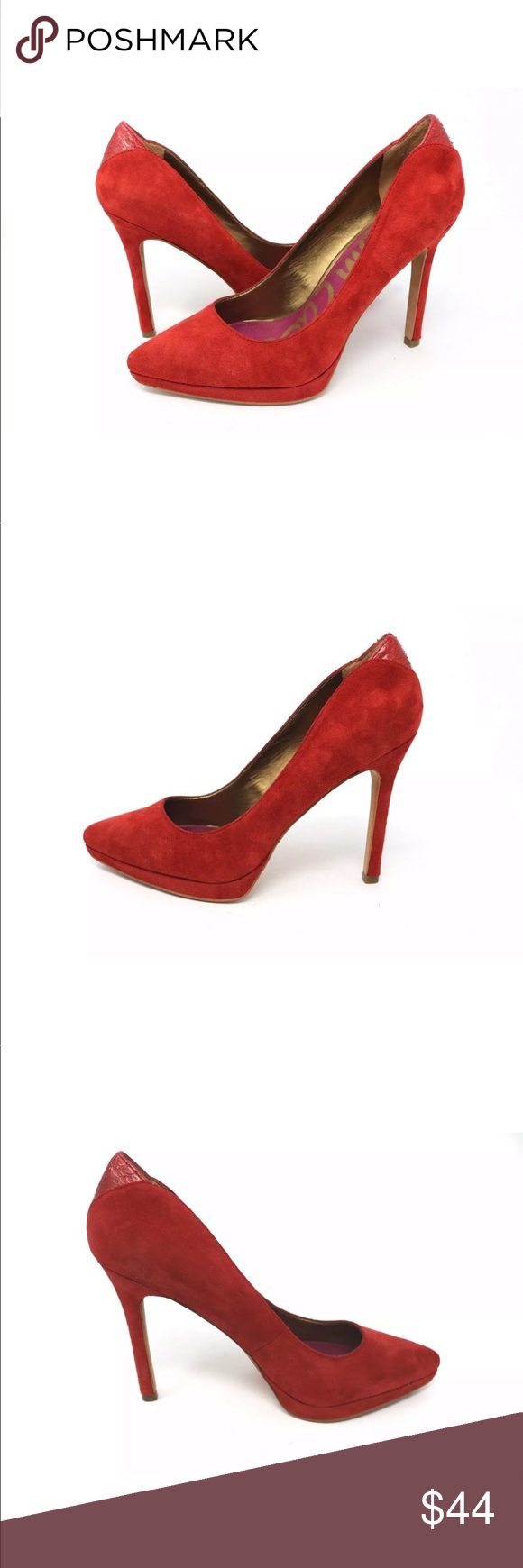 5cfc2910673a5d Sam Edelman Celia Red Suede Leather Platform Pump Sam Edelman Celia Red  Suede Leather Platform Pump Like New Condition. Please see pictures.