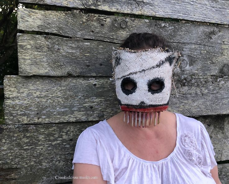 Scary Burlap Clown Mask for Adult Halloween Costume