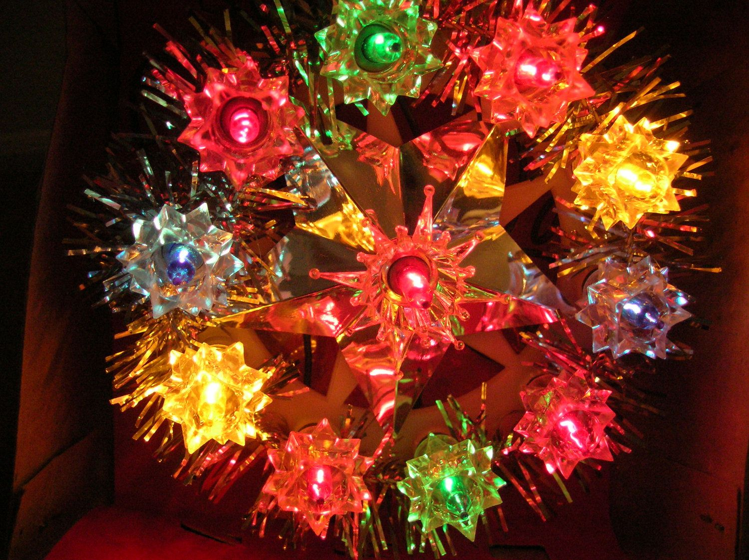 Light Up Silver Christmas Tree Top Woolworth Tree Topper Etsy Vintage Christmas Tree Toppers Silver Christmas Tree Christmas Tree Tops