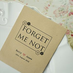 Forget Me Not Seed Packet Favour Wedding Favours