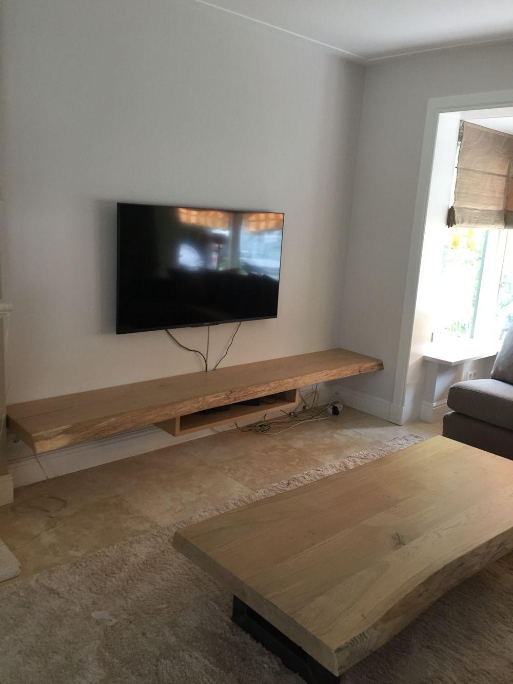 Tv Meubel Ophangen.Boomstam Tv Dressoir Tv Kast Op Maat Gemaakt Huis Interieur