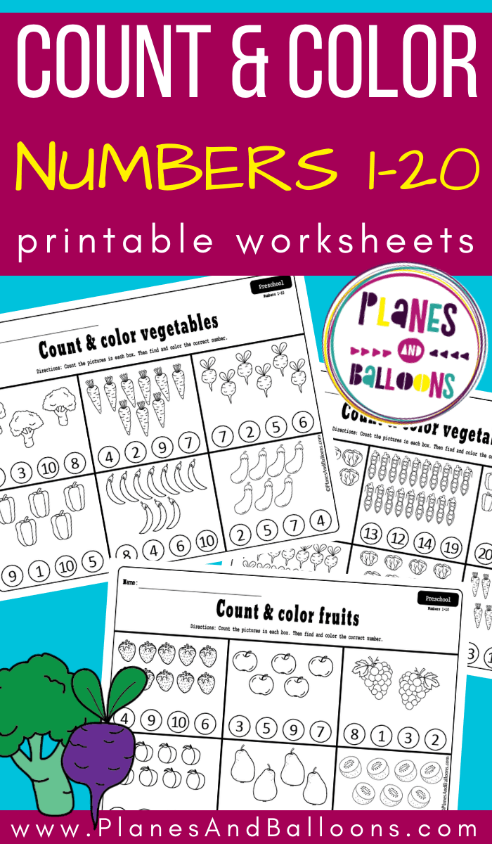 Counting Fruits And Vegetables Worksheets Counting Worksheets For Kindergarten Counting Activities Kindergarten Counting Activities Preschool [ 1200 x 700 Pixel ]