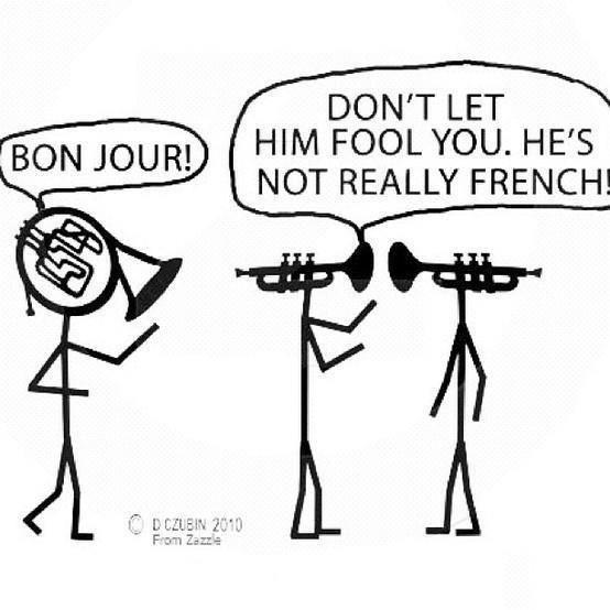 French Horn Jokes French Horn Must Have Met On The Internet Music Humor Music Jokes Band Jokes
