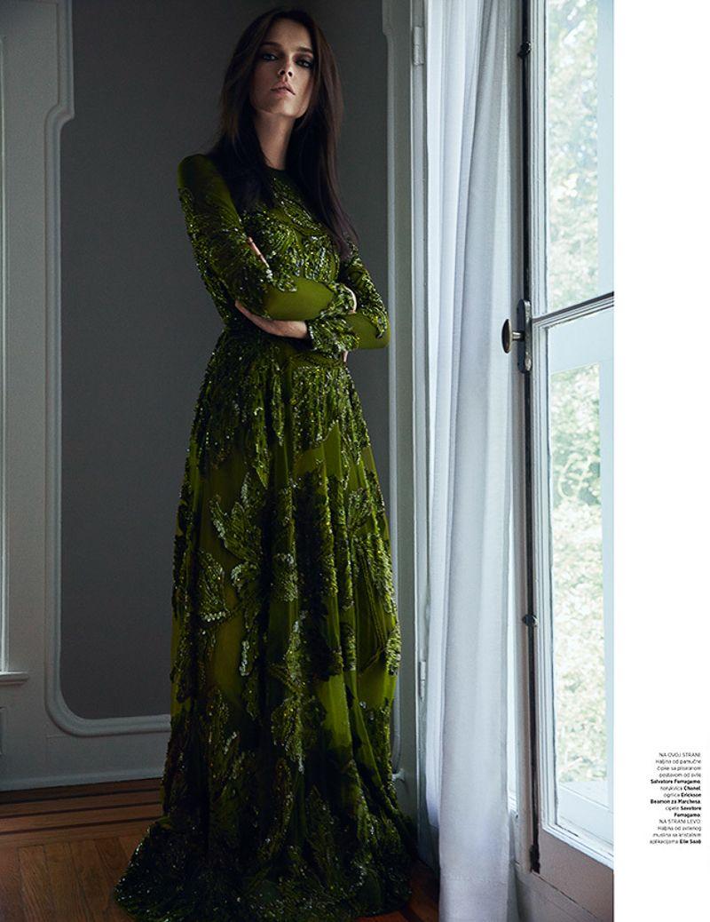 Mina Cvetkovic for Harper's Bazaar Serbia