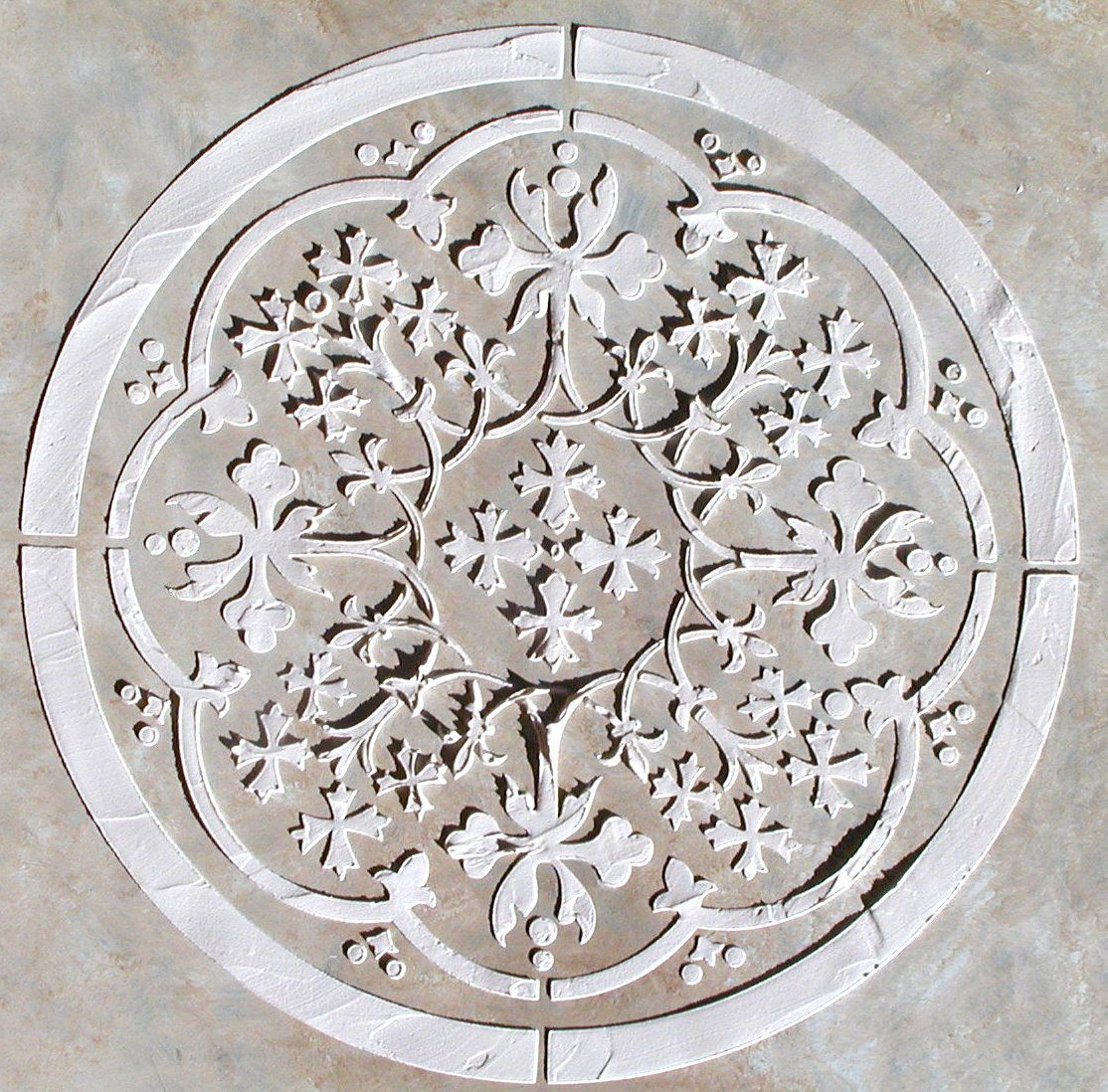 Raised plaster moroccan medallion stencil wall stencil painting raised plaster moroccan medallion stencil wall stencil painting stencil craft stencil 4299 amipublicfo Image collections