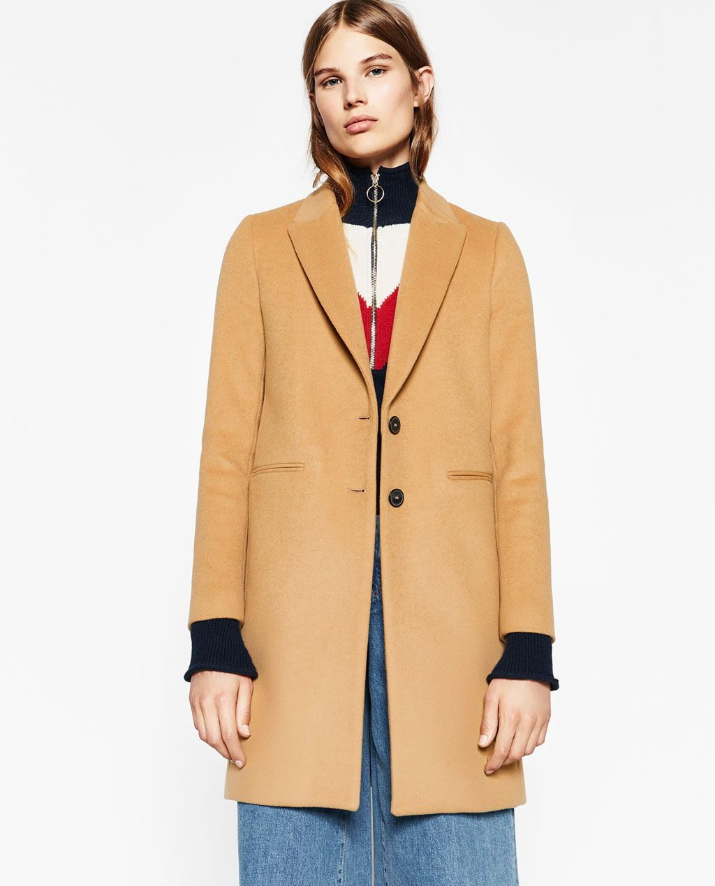 492c4cd0 Image 2 of MASCULINE COAT from Zara   Fashion Ideas   Outerwear ...