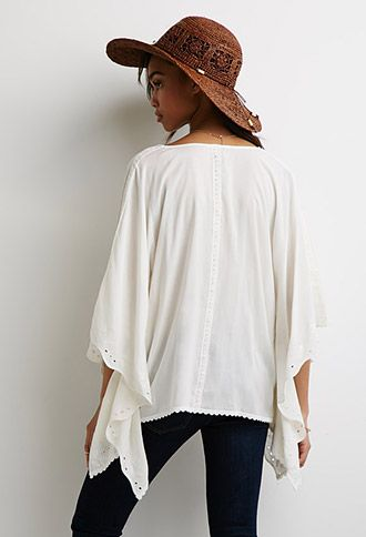 Floral-Embroidered Dolman Top | Forever 21 - 2000098398