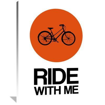 Naxart Ride With Me Circle Poster 1 Graphic Art On Wrapped
