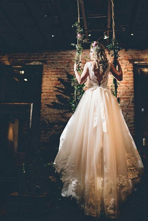 Beautiful Chapel Train Long Wedding Dress | wedding dresses ...