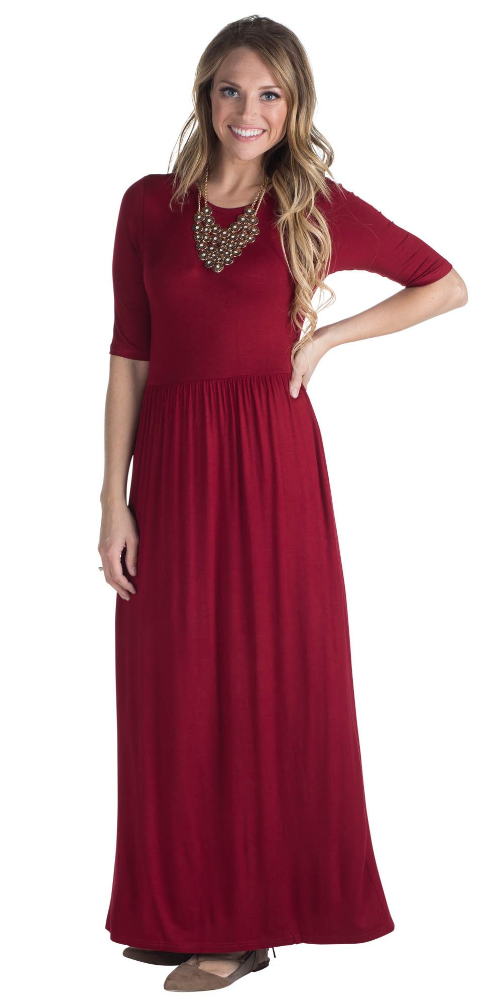 4018528c36 Every girl needs AT LEAST one solid maxi dress in her closet! This ...