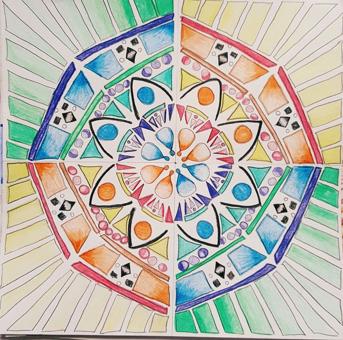 Symmetrical Balance Art Ed Central 8th Grade Lms Wooley