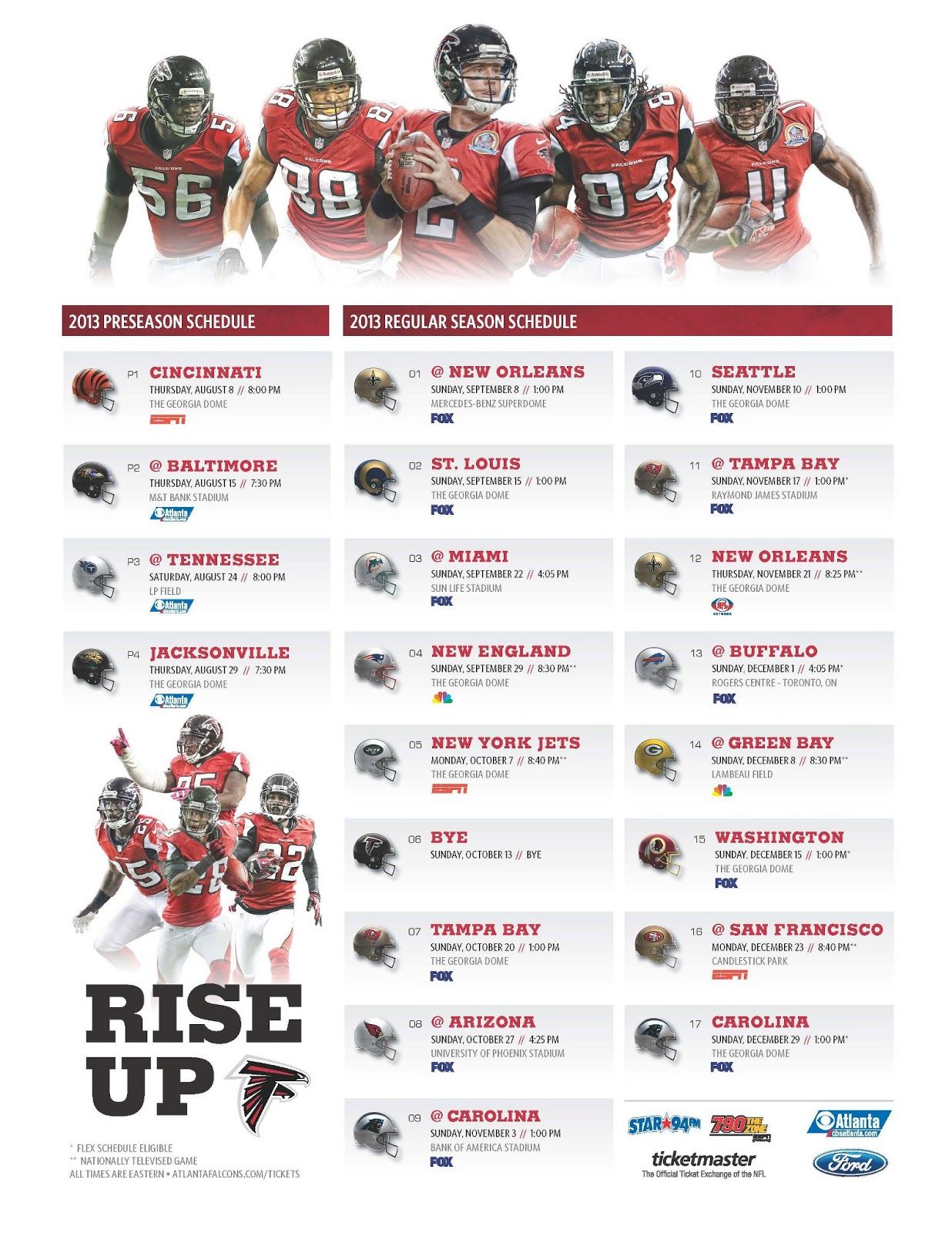 Planet Of The Sanquon The 2013 Atlanta Falcons Schedule Riseup Atlanta Falcons Schedule Atlanta Falcons Atlanta