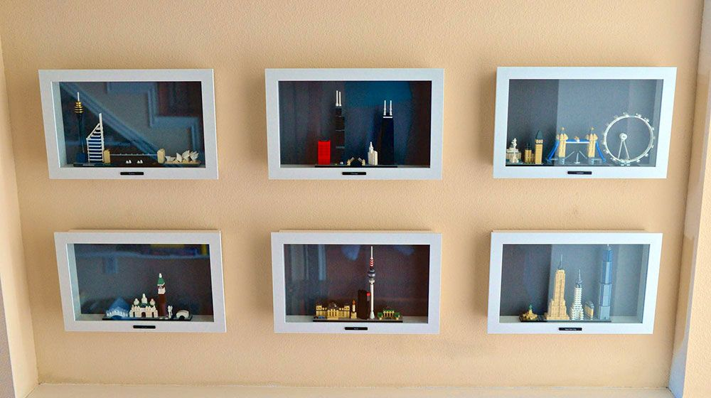 a very ingenious way from ikea to display and protect your lego rh pinterest com