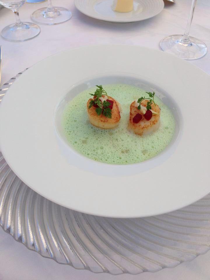 Jakobsmuschel Auf Wasabischaum Rezepte Fisch Zubereiten Essen Kochen