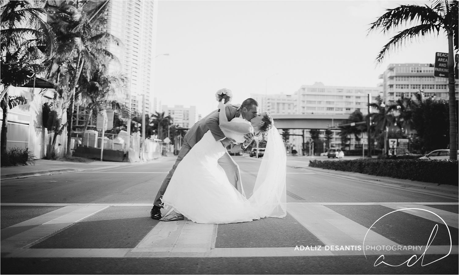 Bride And Groom On A1a Crowne Plaza