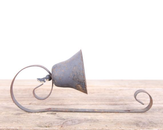 Antique Wall Dinner Bell Vintage Black Metal Bell Old Farm Bell Country Decor Country Decor Rustic Farm De Vintage Bell Country Decor Rustic Antiques