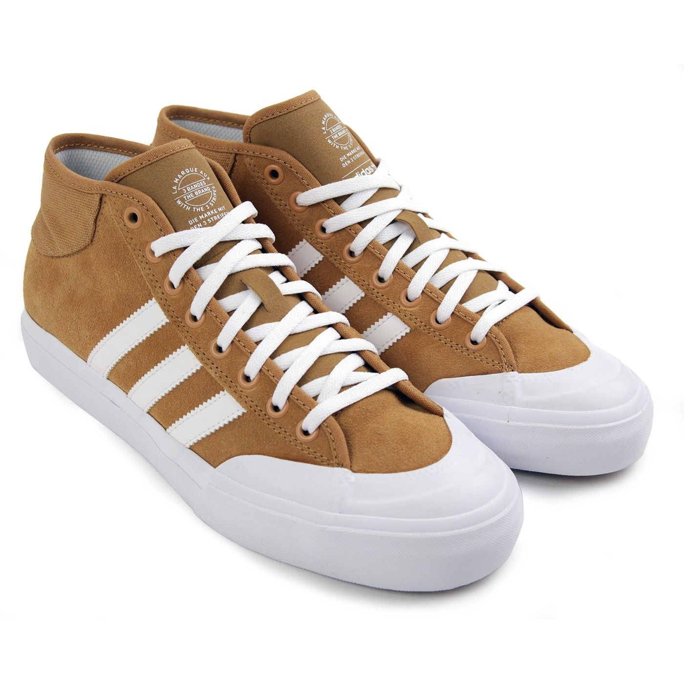 770aa8c796e Matchcourt Mid Shoes in Mesa   White   White by Adidas Skateboarding ...