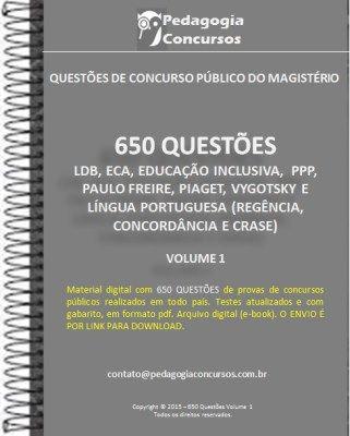 650 Questoes Varias Disciplinas Concurso Pedagogia Concurso