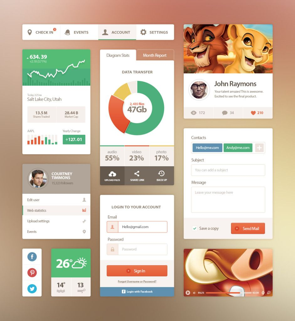 33+ Examples of Flat UI Design for Inspiration | Inspirations ...