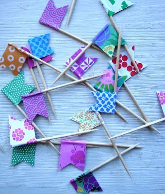 mini paper flags