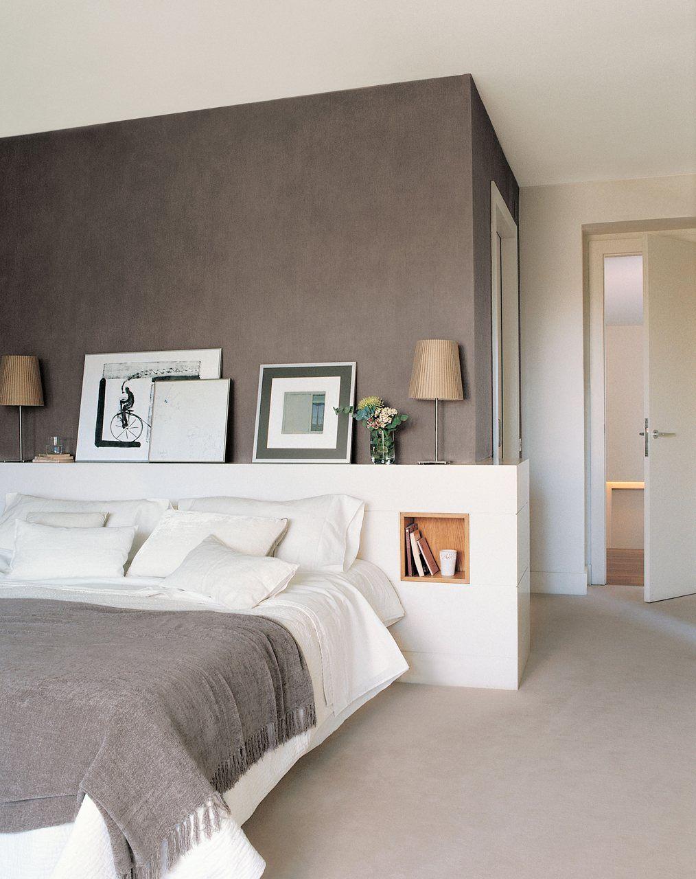 Dormitorios peque os con ideas dormitorios peque os - Cabecero mesillas integradas ...