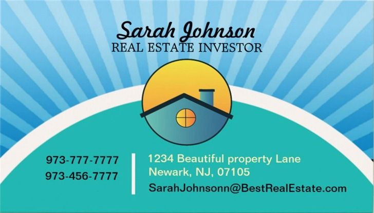 Browse our printable real estate investor business cards