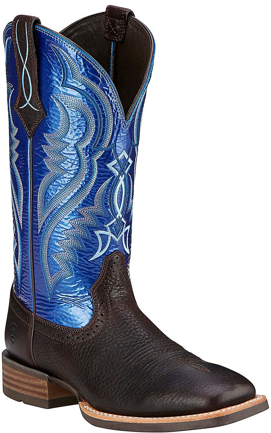 9d9d6e2081f Ariat Men's Fast Time Coffee Cowboy with Blue Hurricane Top Double ...
