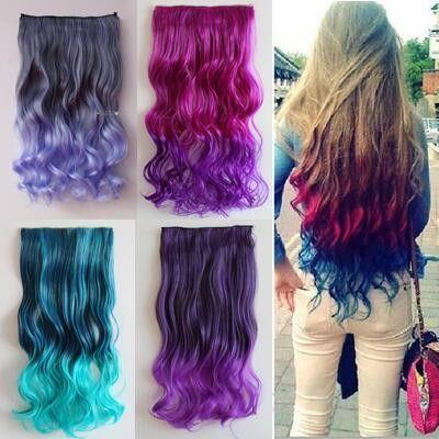 Gradient Color Clip On Hair Wig Se1000 Hair Fryzury
