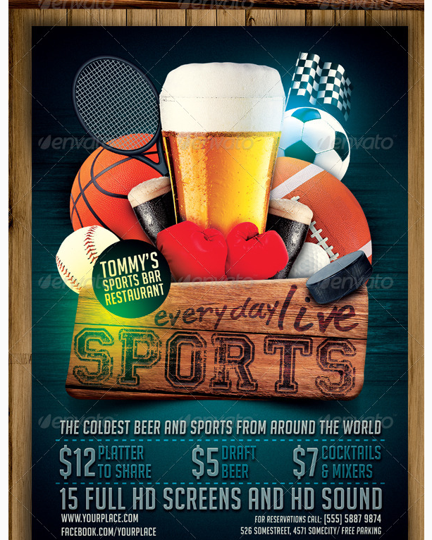 Sports Bar Flyer Template Party Flyer Templates For Clubs Business