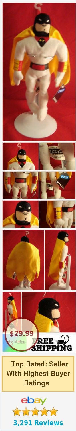 Details about WARNER BROS STUDIO STORES-SPACE GHOST-9-PLUSH BEAN-CAPE&OUTFIT-NEW/TAGS-RETIRED #warnerbros