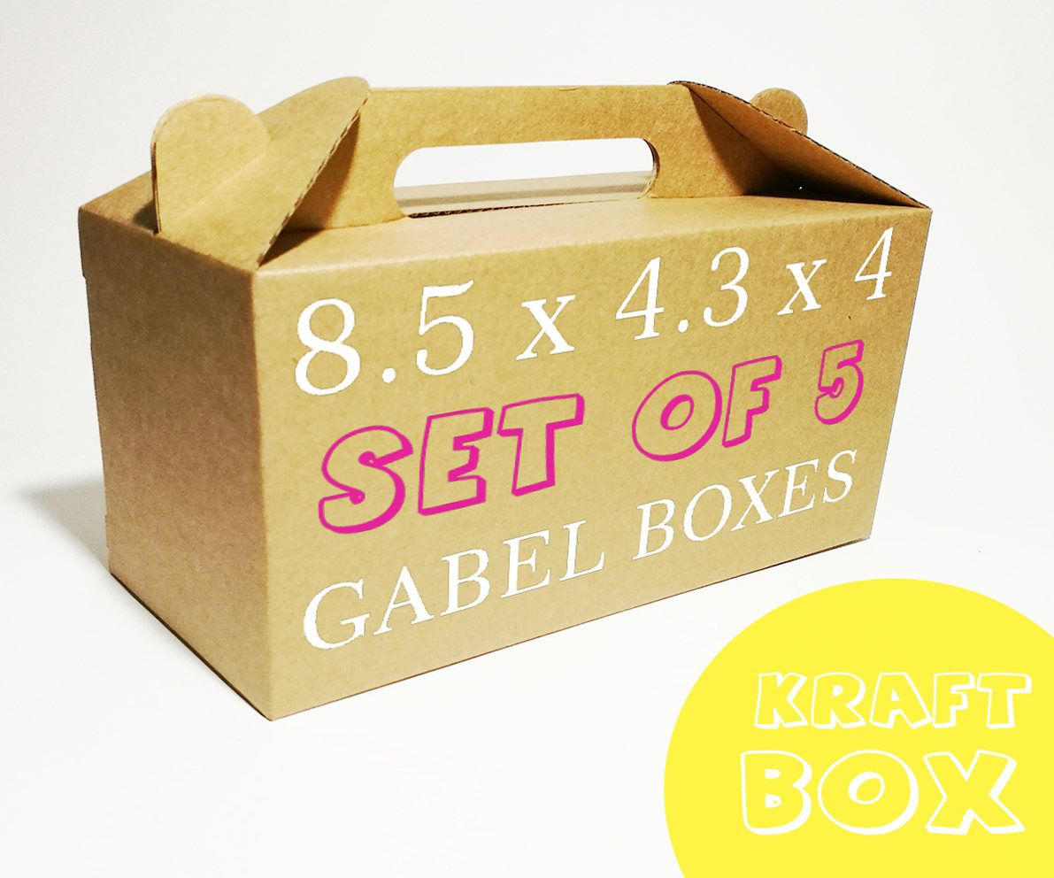 10 Gable Lunch Boxes Picnic Box Idea Kraft Boxes School Boxes Paper Box Portable Box Food Box Take Away Box Birthday Party Gift Box Ideas Birthday Party Box Kraft Boxes Birthday
